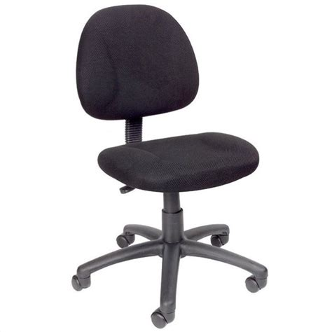adjustable dx fabric posture chair in black b315 bk