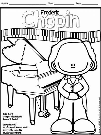 Coloring Sheets Composers Meet Board Class
