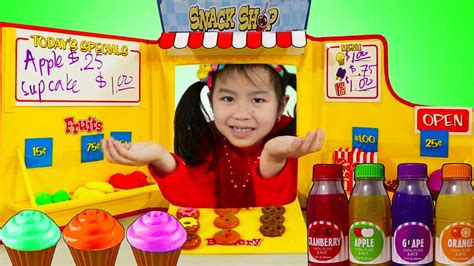 Jannie Pretend Play Baking With Snack Shop Toy Set  Youtube
