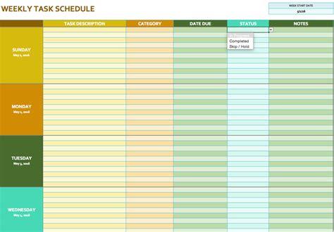 task planner template planner template