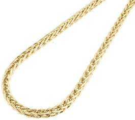 10K Yellow Gold Wheat Chain Necklaces