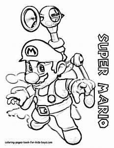 Coloriage Super Mario En Noir Et Blanc Dessin Gratuit  U00e0