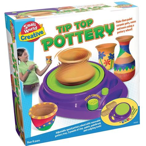 christmas craft ideas for 11 year old girls tip top pottery wheel craft kit educational toys planet