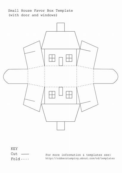 Template Printable Box Paper Templates Favor 3d
