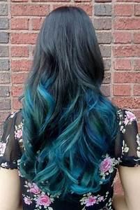 Blaue Haare Ombre : schwarz auf blau ombre haar hairstyles pinterest blaues ombre haar ombre haar und blau ~ Frokenaadalensverden.com Haus und Dekorationen
