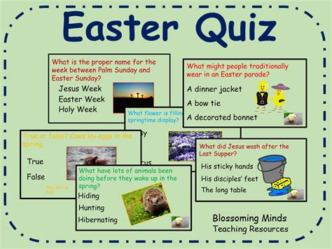 easter trivia blossoming minds teaching resources tes