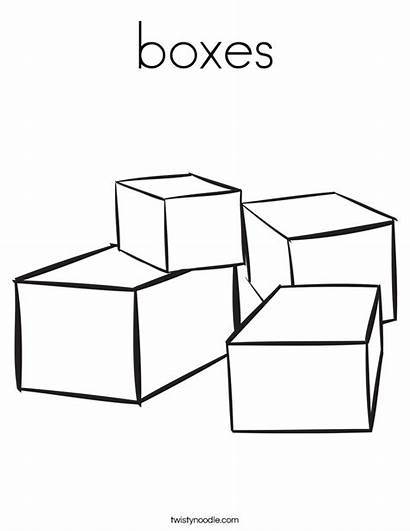 Coloring Worksheet Boxes Blocks Many There Pages
