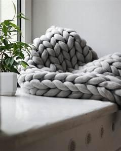 Tricoter Un Plaid En Grosse Laine : un plaid en tricot g ant xxl tricot tricot plaid tricot et tricot g ant ~ Melissatoandfro.com Idées de Décoration
