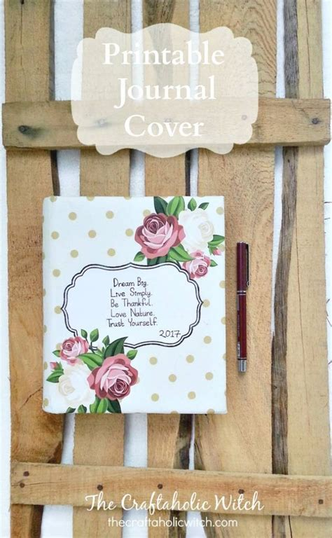 printable journal  notebook cover scrap booking