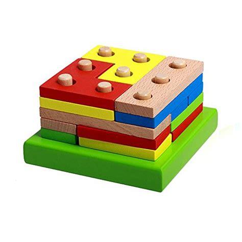 wooden educational preschool shape early developmental 781   41kkpkDOpqL