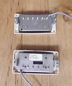 Gibson Burstbucker Pro And 490r Zebra Pickup Set With Wiring