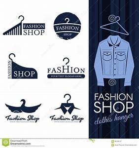 clothes shop fashion logo vector set design cartoon vector With clothing line logo maker