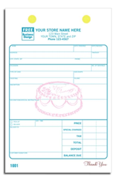 bakery order forms cake order forms