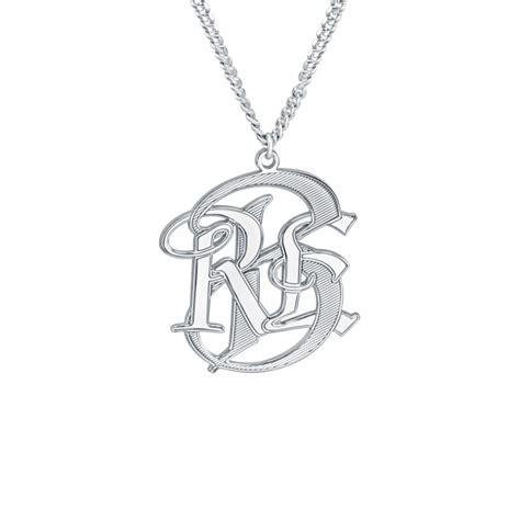 mens monogram necklace