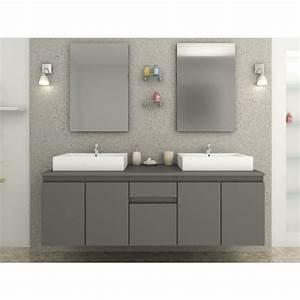 meuble de salle de bain double vasque pas cher galerie With double vasque meuble salle de bain pas cher