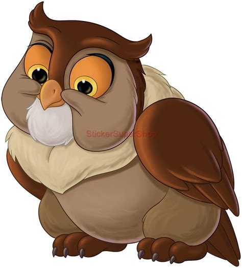 friend owl bambi disney decal removable wall sticker home
