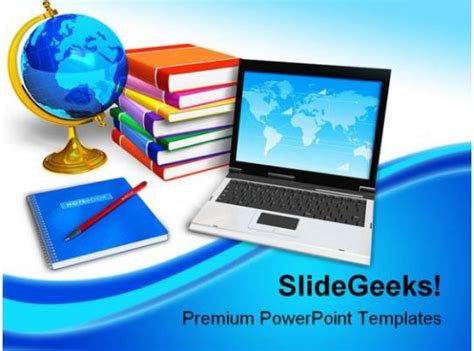 laptop  books education powerpoint backgrounds