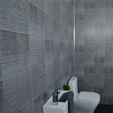 dark grey bathroom wall panels large tile effect small