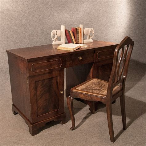 vintage mahogany desk antique study mahogany pedestal desk 3242