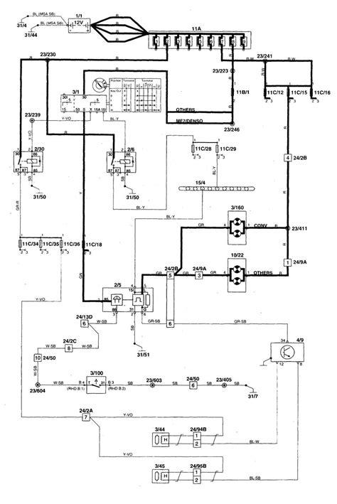 volvo s70 1998 2000 wiring diagrams key warning