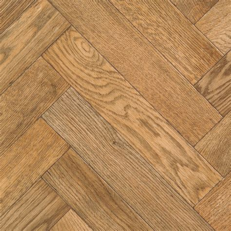 Carillon Oak Parquet Effect Vinyl cut to chosen length in