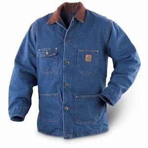 Carharttr denim barn coat stonewashed 104162 insulated for Carhartt barn jacket