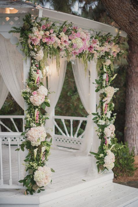 White Pink And Blush Flowers Decorate White Washed