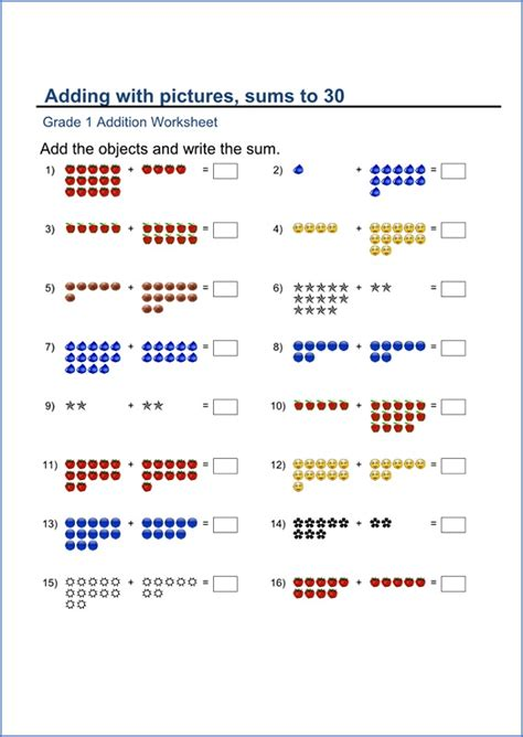 The browser you are using is out of date and not officially supported. Printable Grade 1 Math Worksheets | Activity Shelter