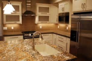 Brown Glass Tile Kitchen Backsplash Ideas
