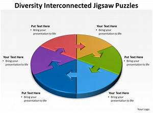Diversity Interconnected Jigsaw Diagram Puzzles Powerpoint