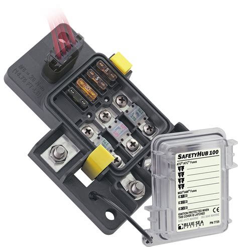 Blue Sea Fuse Box by Blue Sea Systems 7725 Fuse Block Safety Hub 100