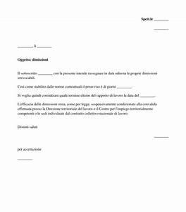 Lettera di Dimissioni Modello, Fac Simile Word e