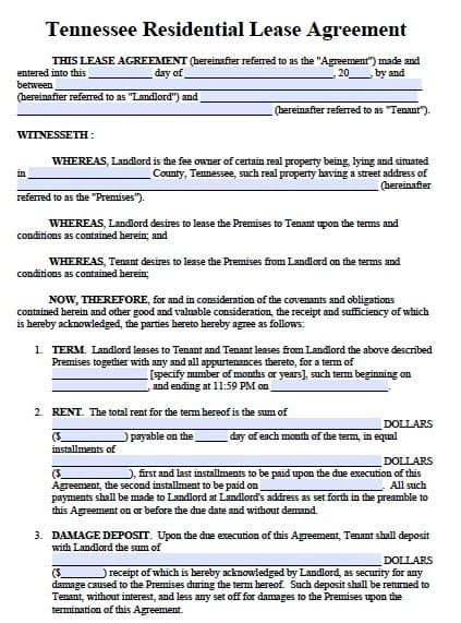 Nevada Standard Rental Agreement Pdf