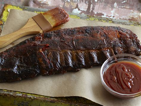 barbecue ribs oven roasted ribs with barbecue sauce recipe dishmaps