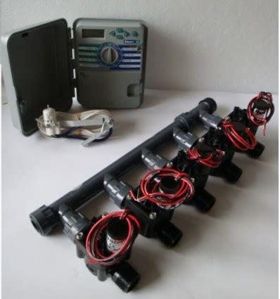 kit con 5 elettrovalvole programmatore xch sensore pioggia