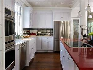 quartz kitchen countertops pictures ideas from hgtv hgtv With kitchen colors with white cabinets with where to get stickers made