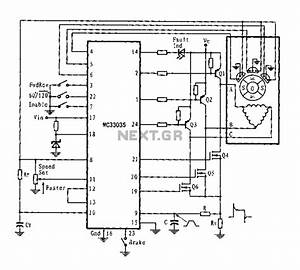 Stepper Motor Control Circuit Schematic