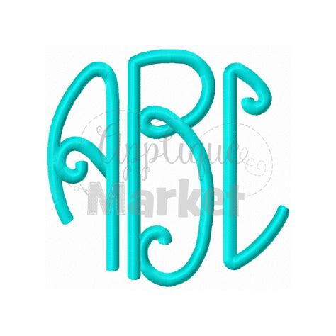 lilly circle monogram applique design