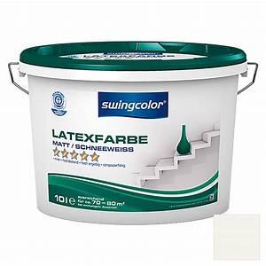 Latexfarbe Matt Abwaschbar : swingcolor latexfarbe schneewei 10 l matt bauhaus ~ Michelbontemps.com Haus und Dekorationen