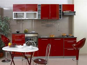 Kitchen small red kitchen designs photo gallery small for Red kitchen designs photo gallery