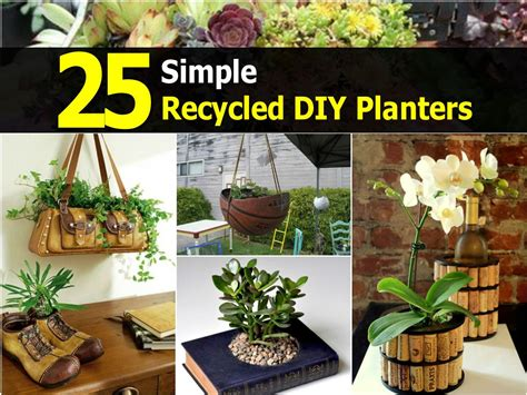 25 Simple Recycled Diy Planters