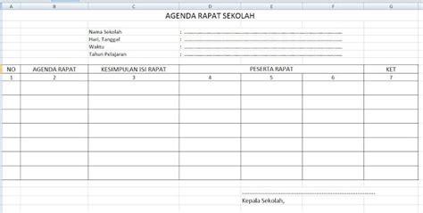 format buku agenda rapat sekolahnotulen kepala sekolah