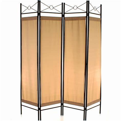 4 Panel Room Divider Screen Privacy Wall Movable Partition