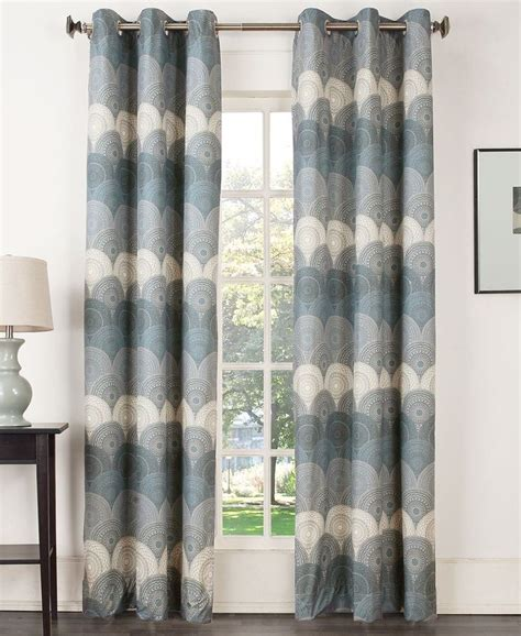 sun zero curtains sun zero deco thermal lined curtain 40 quot x 63 quot panel