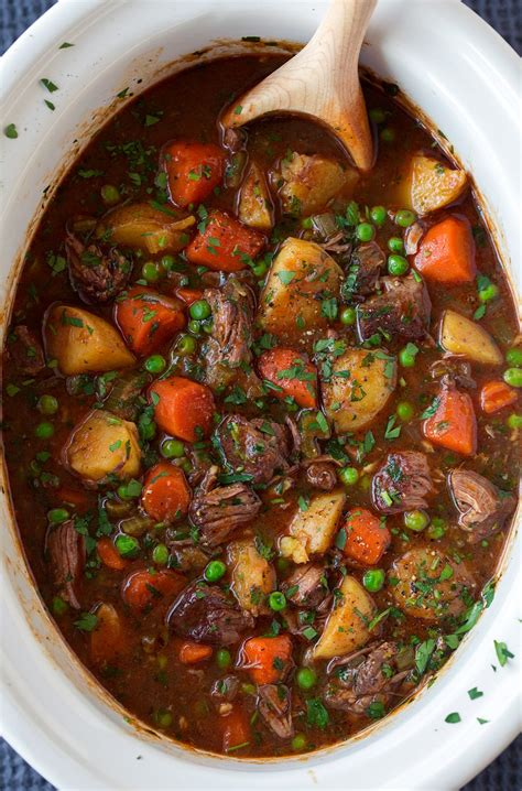 stew beef slow cooker recipe cooking classy spoon