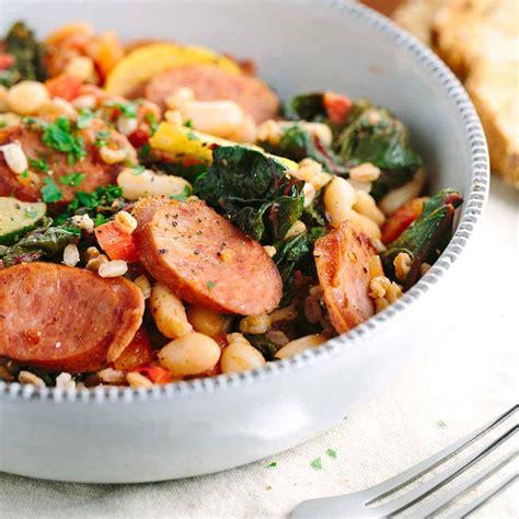 white bean vegetable stew  italian sausage jessica gavin