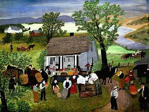 Morning Day on the Farm - Grandma Moses | AllPanters.org