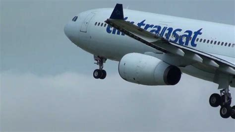 air transat airbus a330 300 great engine sound