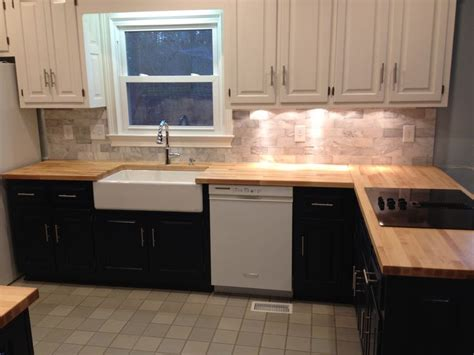 Marble And Butcher Block Countertops by Kitchen Remodel We Used Butcher Block Counter Tops