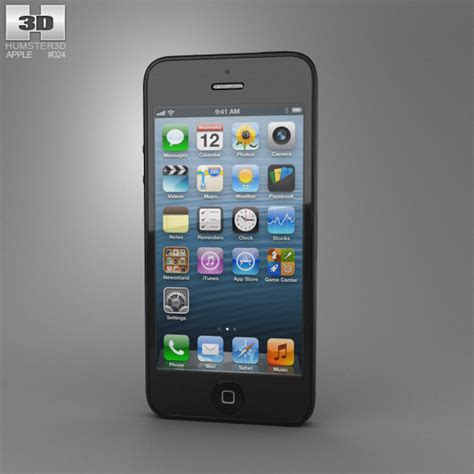 iphone 5 models apple iphone 5 black 3d model hum3d